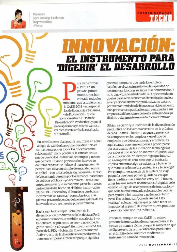 Innovacion - Innovacion y Diversificacion