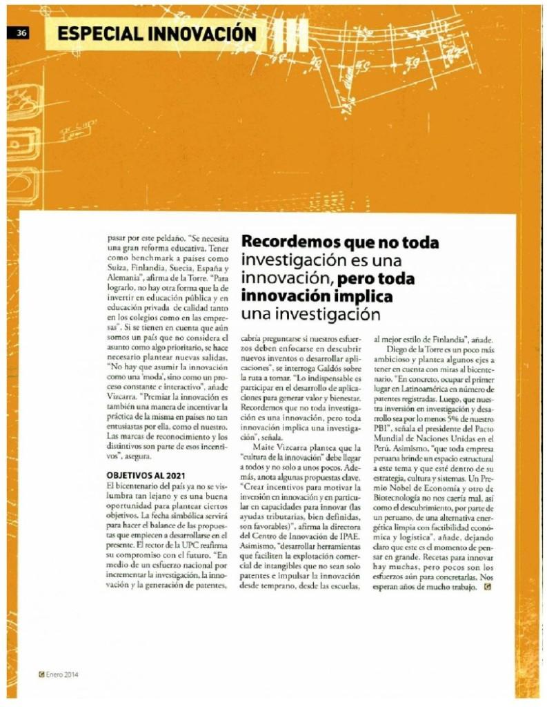 Innovacion - Recetas para innovar 2014 - 3