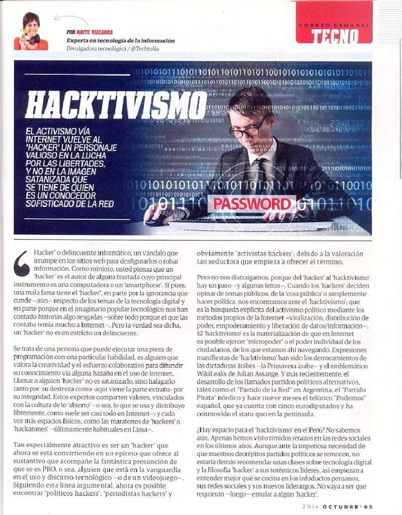Tic - Hacktivismo